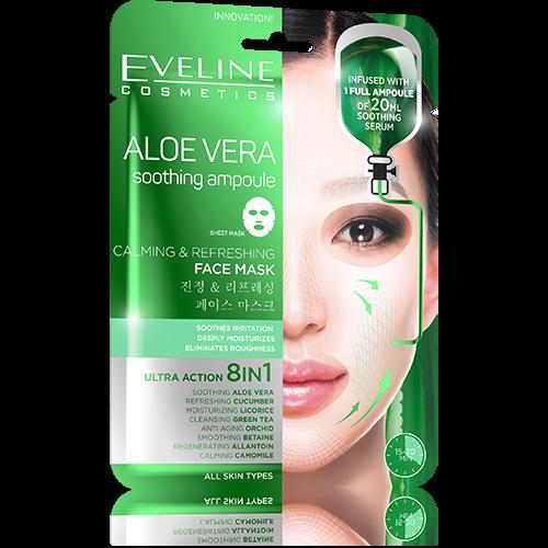 EVELINE - ALOE VERA Soothing Ampoule Sheet Mask
