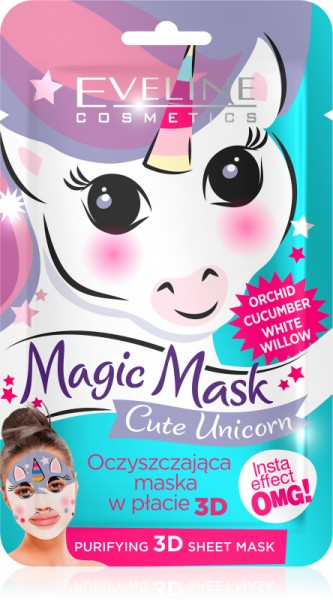 EVELINE - Magic Mask - Cleansing face mask in a patch - Cute Unicorn