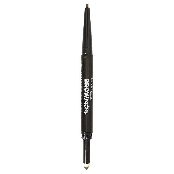 MAYBELLINE - BROW satin - Double-sided eyebrow pencil - MEDIUM BROWN