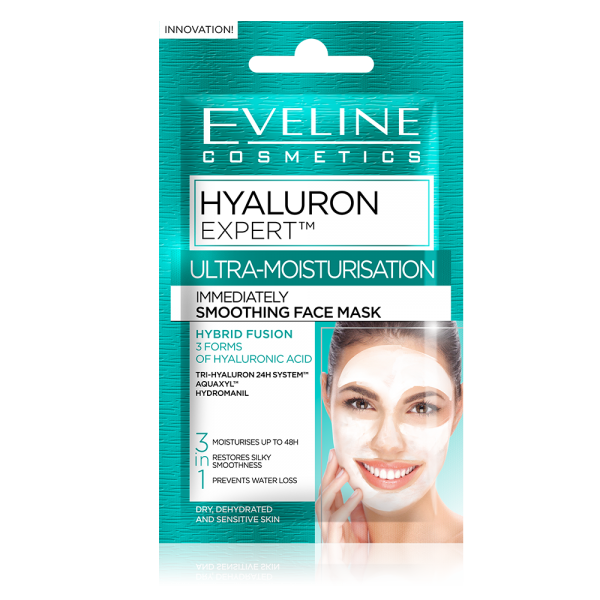 EVELINE - HYALURON EXPERT - ULTRA MOISTURIZATION - Instant smoothing mask